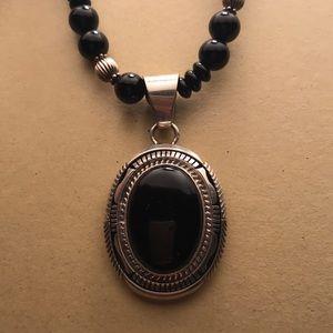 Melvin Francis Navajo Onyx Jewelry